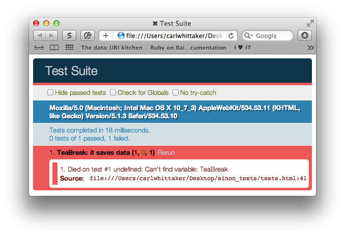 Unboxed - Blog - Making JavaScript testing in the browser